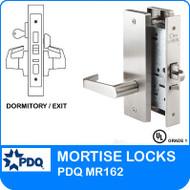 Grade 1 Single Cylinder Dwelling Entrance / Dormitory / Exit Mortise Locks | PDQ MR162 | F Series Escutcheon Trim