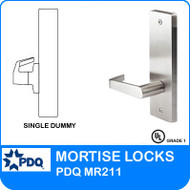 Grade 1 Single Dummy Non Cylinder | PDQ MR211 | F Series Escutcheon Trim