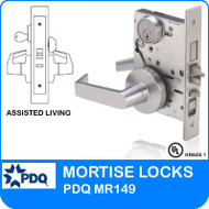 Grade 1 Single Cylinder Mortise Assisted Living Lockset | PDQ MR149 | J Series Sectional Trim
