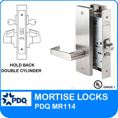 Hold Back Double Cylinder Mortise Locks Pdq Mr114 Je