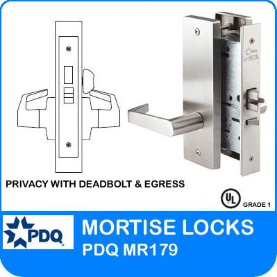 Privacy W Deadbolt Amp Egress Mortise Locks Pdq Mr179 Je