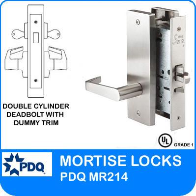 Double Cylinder Deadbolt W Dummy Trim Mortise Locks Jw