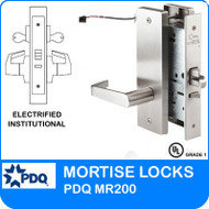 Grade 1 Electrified Institutional Mortise Locks | PDQ MR200 | F Series Escutcheon Trim