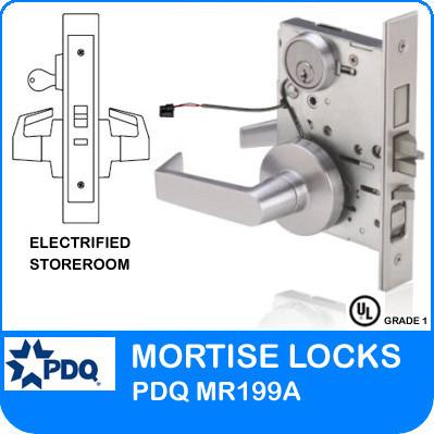 Grade 1 Electrified Storeroom Mortise Locks | PDQ MR199A | J Series Sectional Trim  sc 1 st  Locks and Safes Online.com & Grade 1 Electrified Storeroom Mortise Locks | PDQ MR199A | JS