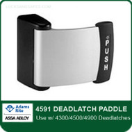 Adams Rite 4591 Deadlatch Paddle for 4300/4500/4900 Deadlatches