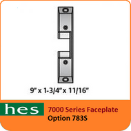 HES 783S Option - 7000 Series Faceplate