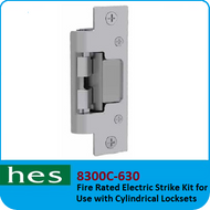 HES 8300C-630 - Fire Rated Electric Strike Kit for use with Cylindrical Locksets