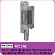 Von Duprin 6211AL - Electric Strike for use with Aluminum Frame Applications with Mortise or Cylindricial Locks