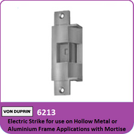 Von Duprin 6213 - Electric Strike for use on Hollow Metal or Aluminum Frame Applications with Mortise or Cylindrical Locks