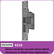 Von Duprin 6216 - Electric Strike for use with Hollow Metal, Aluminum or Wood Frame Applications with Mortise Lock with Deadbolt