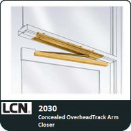 LCN 2030 - Concealed OverheadTrack Arm Closer