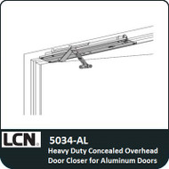 LCN 5034-AL - Heavy Duty Concealed Overhead Door Closer for Aluminum Doors