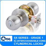 PDQ SX Series Cylindrical Lock - Grade 1 - Interchangeable Core