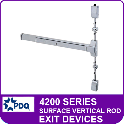 Pdq 4200 Series Concealed Vertical Rod Exit Devices