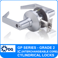 PDQ GP Series Interchangeable Core (IC) Cylindrical Lock - Grade 2