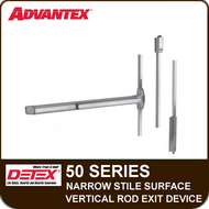 Advantex 50 Series Narrow Stile Surface Vertical Rod Exit Device - Grade 1