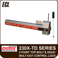 ECL-230X-TD - 2 Point Top Bolt and Deadbolt Exit Control Lock