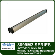 Adams Rite 8099M2 - Active Dummy Bar Without Latching Mechanism with Two Switches