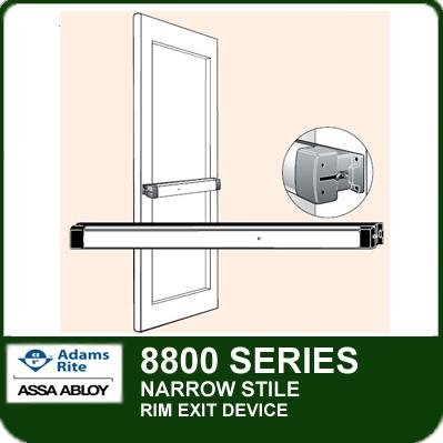 Adams Rite 8800 Narrow Stile Rim Exit Device