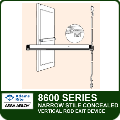 Adams Rite 8600 Narrow Stile Concealed Vertical Rod
