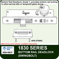 Adams Rite 1830 - Bottom Rail Deadlock (Swingbolt)