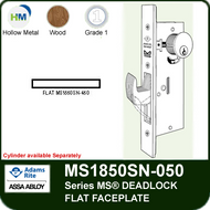Adams Rite MS1850SN-050 - Series MS® Deadlock (ANSI Size), Flat Faceplate, any Handing