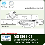 Adams Rite MS1861-01 Bottom Rail Deadbolt - One-Point Deadlock, Vertical Bolt Operation only