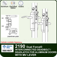 Adams Rite 2190 - Dual Force® Interconnected Deadbolt / Deadlatch for Aluminum Stile Doors - With MV Lever