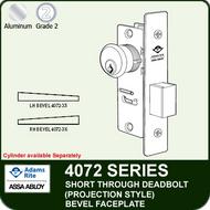 Adams Rite 4072 - Short Throw Deadbolt (Projection Style) -Bevel Faceplate