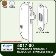 Adams Rite 5017-00 - Wood Door Deadlock/Deadlatch - Stainless Steel Deadlock