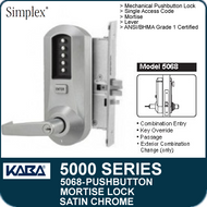 Simplex 5068 - Mechanical Pushbutton Mortise Lock