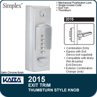 Simplex 2015 - Mechanical pushbutton lock - Combination Entry with Thumbturn Style Knob