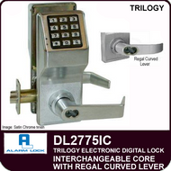 Alarm Lock Trilogy DL2775IC - Interchangeable Core with Regal Curved Lever