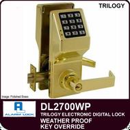 Alarm Lock Trilogy DL2700WP - Weather Proof Key Override
