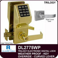 Alarm Lock Trilogy DL2775WP - Weather Proof Key Override with Regal Curved Lever