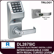Alarm Lock Trilogy DL2875IC - Interchangeable Core with Regal Curved Lever
