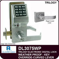 Alarm Lock Trilogy DL3075WP - Weather Proof Key Override with Regal Curved Lever