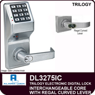 Alarm Lock Trilogy DL3275IC - Interchangeable Core with Regal Curved Lever