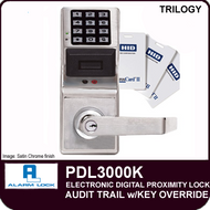 Alarm Lock Trilogy PDL3000K - ELECTRONIC DIGITAL PROXIMITY LOCKS - Audit Trail with Key Override