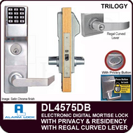 Alarm Lock Trilogy DL4575DB - ELECTRONIC DIGITAL MORTISE LOCKS, WITH PRIVACY & RESIDENCY FEATURES - Regal Curved Lever Deadbolt Function