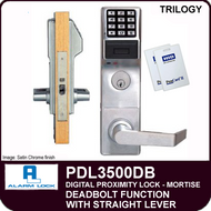 Alarm Lock Trilogy PDL3500DB - ELECTRONIC PROXIMITY MORTISE LOCKS - Straight Lever Deadbolt Function