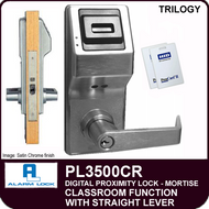 Alarm Lock Trilogy PL3500CR - ELECTRONIC PROXIMITY MORTISE LOCKS - Straight Lever Classroom Function