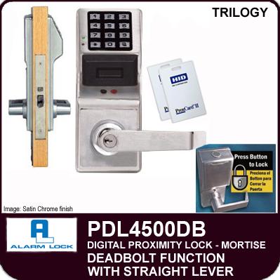 Alarm Lock Trilogy Pdl4500db Electronic Mortise Locks