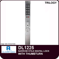 Alarm Lock Trilogy DL1225 - NARROW STYLE LOCK - With Thumbturn