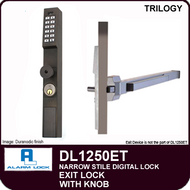 Alarm Lock Trilogy DL1250ET - NARROW STYLE / EXIT LOCK - With Knob