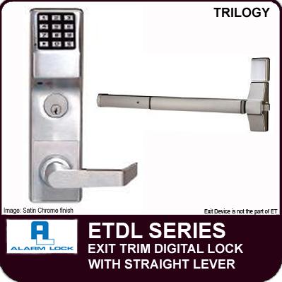 Alarm Lock Trilogy Etdl Exit Trim Straight Lever