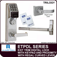 Alarm Lock Trilogy ETPDL Series - EXIT TRIM PROXIMITY LOCK - With Regal Curved Lever
