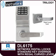 Alarm Lock Trilogy DL6175 - NETWORX DIGITAL LOCKS - Standard Key Override with Regal Curved Lever