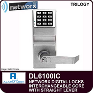 Alarm Lock Trilogy DL6100IC - NETWORX DIGITAL LOCKS - Interchangeable Core with Straight Lever
