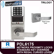 Alarm Lock Trilogy PDL6175 - NETWORX PROXMITY DIGITAL LOCKS - Standard Key Override with Regral Curved Lever